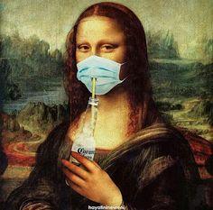Mona lisa cerveza Corona on We Heart It Art Memes, Memes Arte, Bd Pop Art, Tableau Pop Art, Mona Lisa Parody, Arte Pop, Surreal Art, Funny Art, Aesthetic Art