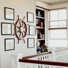 Aye, aye, cap'n! Accessorize your beach house with a vintage ship's wheel wall decoration