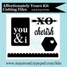 Maya Road Affectionately  Yours Kit Digital Cutting files - free