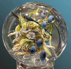 Stunning Artistic Glass Paperweights by Paul J. Stankard!