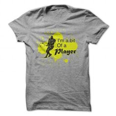 Awesome Tennis Lovers Tee Shirts Gift for you or your family member and your friend:  Im a Bit of a Player Tennis Funny Shirt  Tee Shirts T-Shirts