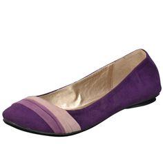 Qupid (Style: Thesis-75) ballet flats in purple velvet.