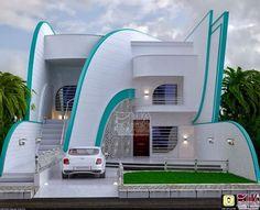 احدى تصاميم المهندس العراقي سامر ديوان Cool House Designs, Modern House Design, Modern Houses, Curb Appeal, Discovery, Facade, Home Goods, Interior Decorating, Mansions