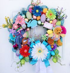 Easter Wreath Disney Winnie the Pooh and by SparkleForYourCastle,