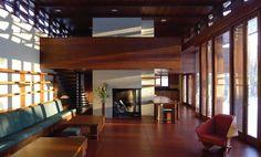 Afbeeldingsresultaat voor inside frank lloyd wright houses