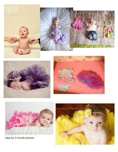 3 month old baby photography session ideas