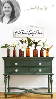 lush Deep and dark. A luxuriant shade of green. Green Painted Furniture, Paint Furniture, Bedroom Furniture, Bedroom Dressers, Paint Finishes, Hunter Green, Shades Of Green, Lush, Paint Colors