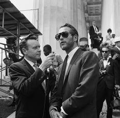 NBC News Merrill Mueller et Paul Newman, Washington, 1963.