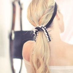DIY Velvet and Pearl Ribbon | Hair Accessory, Necklace, Belt, Curtain Tieback, Whatever You Want it to Be