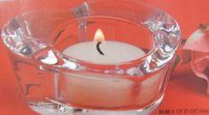 Biedermann & Sons Glass Heart Shaped Tea Light Candle Holder