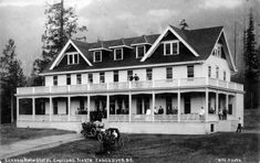 Canyon View Hotel, Capilano, North Vancouver, B. Photo by G. Nye - City of Vancouver Archives Vancouver Hotels, North Vancouver, Hamilton Ontario Canada, British Columbia, Old Photos, Cabin, Mansions, History, Architecture