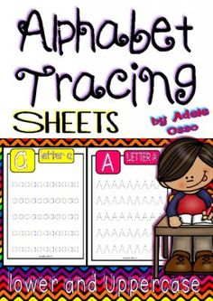 Alphabet Handwriting Sheets (lower and uppercase) from Adeleteacher on TeachersNotebook.com -  (54 pages)  - Here is a set of sheets to practice handwriting skills related to the 26 alphabet letters in both lower and uppercase.