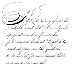 cursive handwriting versus spencerian script | More like this: handwriting…