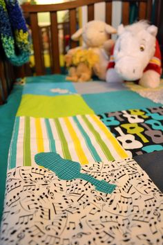 Musical Theme Nursery with custom crib bedding.... Not sure about these colors but I like the idea