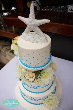 Great beach wedding cake - Everyday Brilliance Photography - Dana Point, CA