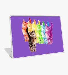 rainbow cats Laptop Skin Macbook Pro Retina, Macbook Air, Surface Laptop, Laptop Decal, Laptop Skin, Kitten, Rainbow, Cats, Things To Sell