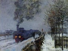 The Train in the Snow, Claude Monet, 1875. Oil on canvas. 23.2 in x 30.7 in.  Musée Marmottan, Paris, France.
