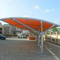 Car parking tensile structures manufacturers in Jaipur.Will provide freedom to make any king of tensile structure job any where in India. With best quality and feature. Shade Structure, Steel Structure, Car Porch Design, Car Shed, Car Canopy, Car Shelter, Roof Truss Design, Tensile Structures, Carport Designs