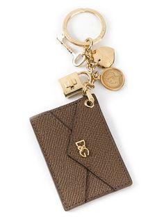 DOLCE and GABBANA Stamped Envelope Keyring