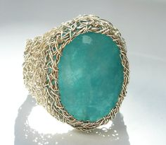 Etsy shop that features wire crochet jewelry (handmade in Italy)
