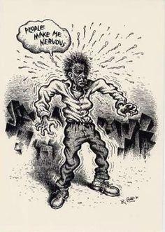 Robert Crumb - People Make Me Nervous Robert Crumb, Gilbert Shelton, Fritz The Cat, Comic Art, Comic Books, Weight Loss Video, Alternative Comics, Bd Comics, Caricature