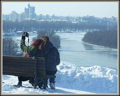 Belgrade, Serbia, zima na kalemegdanu i ...ljubav naravno