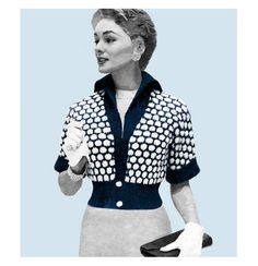 Vintage 1950s Knitting Pattern Polka Dot Bolero by 2ndlookvintage