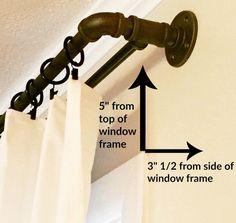 DIY conduit curtain rod