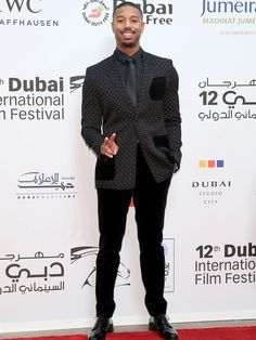 Actor Michael B Jordan attends the Opening Night Gala of 'Room' during Day One of the 12th annual Dubai International Film Festival on Dec. 9, 2015, in Dubai, United Arab Emirates.  Neilson Barnard, Getty Images for DIFF