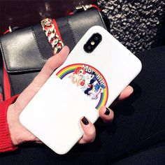 Moschino iPhone 5/5S Cover Logo Rosso McDonald Borse Miglior