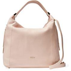 Furla Liz Medium Hobo ($249) ❤ liked on Polyvore featuring bags, handbags, shoulder bags, pink, pink handbags, shoulder strap handbags, pink shoulder bag and leather shoulder handbags