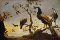 Frans Snyders (1579-1657), Assemblage d'oiseaux perchés sur des branches / Assembling birds perched on branches © Musée du Louvre - Erich Lessing
