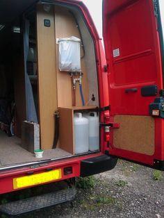 van living set up Sprinter Conversion, Sprinter Van Conversion, Camper Conversion, Sprinter Rv, Mercedes Sprinter, Diy Van Camper, Van Dwelling, Cargo Van, Gypsy Wagon