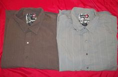 Tony Hawk button front shirt lot of 2 XXL Gray Brown s/s Great condition Skate  #Hawk #ButtonFront