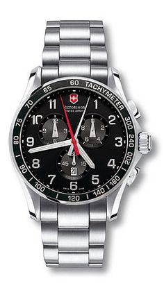 Chrono Classic 241199 - XLS - Extra Large Black Dial - Stainless Steel Bracelet