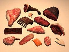 Raw deco meat.