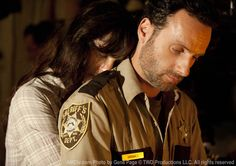 Rick and Lori from The Walking Dead