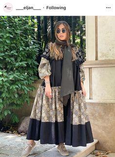 Love the idea of this Morden style. I'll call it Morden Abaya? Frock Fashion, Abaya Fashion, Muslim Fashion, Kimono Fashion, Fashion Dresses, Modern Hijab Fashion, Street Hijab Fashion, Modest Fashion, Mode Abaya
