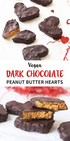 These Vegan Chocolate Peanut Butter Hearts taste BETTER than a store-bought Reese's and would make a healthy Valentine's Day treat.