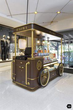 Coffee Carts, Coffee Truck, Mobile Food Cart, Mobile Bar, Shop Interior Design, Store Design, Coffee Shop Design, Tea Design, Kombi Trailer