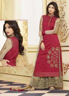 Eid Special Wholesale Red Long Salwar Suits Collection   #eidwholesaler #suratwholesaler #eiddressmaterial #onlineeiddresses #eidcollection #eid2015 #bollywoodsalwar #bollywoodsuits #eidlonganarkali   Buy this salwar suits @ http://www.suratwholesaleshop.com/4061-Sizzling-Shilpa-Shetty-Blue-Designer-Party-Wear-Anarkali-Suit?view=catalog