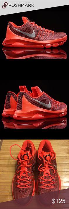 9b8a9cc6dae5 NWOT Nike KD Crimson Black 8 V-8 Basketball Shoe Light