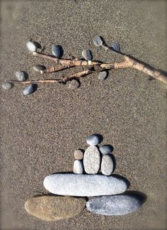 Beach rock art: Under the Willow Tree Nome, Alaska
