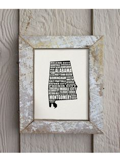 a word about ALABAMA Montgomery USA 8 x 10 digital print design - custom. $17.50, via Etsy.