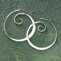Koru Spiral Earrings. I love these. They have an esoteric quality lacking in hoops which, due to cultural associations, I find quite brash...