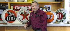 """Sign collector Jeff Shirley keeps the past alive at his Oneonta muffler shop."""
