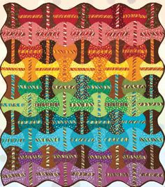 "= free pattern = Apple Pop quilt, 50 x 58"", an apple core quilt design by Debbie Hansen for P&B Textiles (PDF download) as seen at Quilt Inspiration"