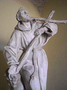 """Saint Francis of Assisi"" - statue years 1785-88 by Giuseppe Sanmartino - Naples, San Martino Museum | Flickr: Intercambio de fotos"