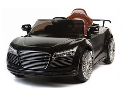 Audi R8 Style 12V Ride On Car W/Remote Control (RC) & MP3 - This fabulous Audi R8 style twin motor and two speed ride on car is a real head turner. The R8 inspired Autobahn Motors 12 volt ride on car is a blast for any 2 to 4 year old to hop in and take a spin. Sometimes it can be even more entertaining for the adult who wants to participate with the included wireless remote control.
