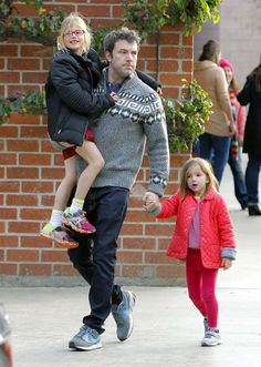 Ben Affleck and his daughters, Violet and Seraphina